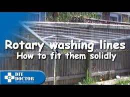 How To Put A Rotary Washing Line Into The Ground Properly Youtube