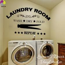Laundry Room Wall Sticker Wash Dry Fold Repeat Laundry Room Lettering Wall Decal Laundry Room Decor Vinyl Wall Art Room Sign Wall Sticker Room Wall Stickersdecorative Vinyl Aliexpress