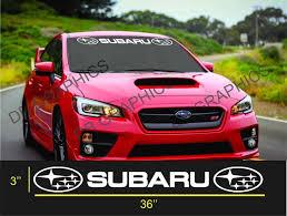 For Subaru Windshield Sticker Banner Decal Vinyl Rally Window Graphic Wrx Custom Sti Car Stickers Aliexpress