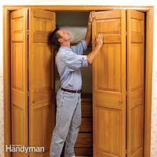 how to fix stubborn bifold closet doors