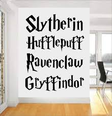Amazon Com Harry Potter Wall Decal Movie Quote Poster Vinyl Sticker Kids Decor Mural Gryffindor Ravenclaw Slytherin Hufflepuff Home Kitchen