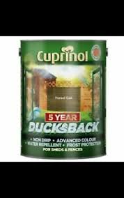 Cuprinol 5 Year Ducksback Shed And Fence Paint In Forest Oak 5l 24 Hr Delivery Ebay