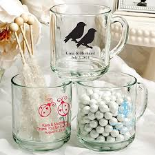 clear glass coffee mug wedding favors