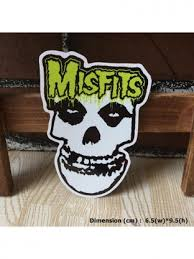 Misfits Rock Music Band Art Die Cut Waterproof Vinyl Decal Sticker Skullangel Unique Handmade Clothing Embroidered Patches Waterproof Stickers For Diy Projects