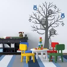 Tree House Wall Decal Sticker Vinyl Nursert Art Owls Birdhouse 1275 Innovativestencils