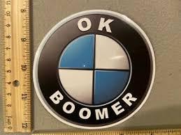 New Ok Boomer Funny Cool Parody Logo Meme Twitter Vinyl Decal Sticker Car Truck Ebay