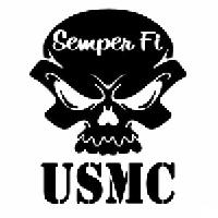 Usmc Skull Die Cut Vinyl Decal Pv1126 Pirate Vinyl Decals