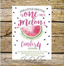Invitation Birthday Watermelon Digital Printable Invitation