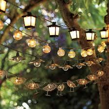 these mercury glass globe string lights