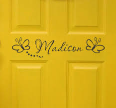 Kids Room Name Decal Personalized Kids Door Signgirl Bedroom Etsy