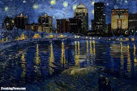 starry night over the rhone painting