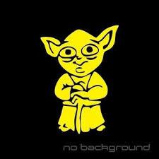 Oracal Yoda Sticker Vinyl Decal Star Wars Jedi Order Car Window Truck Bumper Laptop