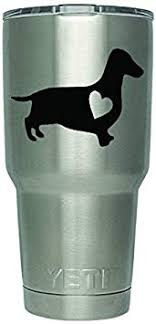 Amazon Com Dd109 2 Pack Dachshund Love Heart Decal Decal Only Cup Not Included 3 Inches Premium Quality Black Vinyl Yeti Rtic Orca Ozark Trail Tumbler Decal Automotive