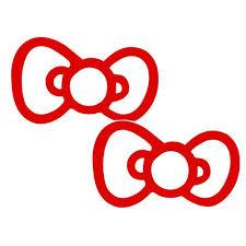 2x Bow Tie Hello Kitty Style Car Decal Vinyl Sticker Red John M Mchenryert