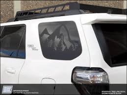 Toyota 4runner Mountain Tree Line Side Window Decal Fits 2010 20 Importequipment
