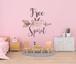 Boho Wall Decals Free Spirit Wall Decals Hippie Love Sticker Boh Walls2lifedecals