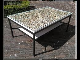 coffee table with sea s and