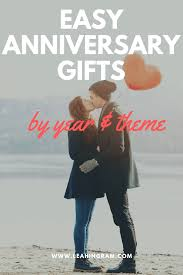 anniversary gifts by year and theme