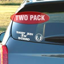 2pk Decal Sticker Inspired By Star Wars Baby Jedi On Board Jedi Logo Decals Bumper Stickers