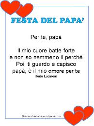 Biglietti,poesie,letterine per la festa del papà – Maestramaria