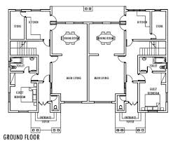 semi detached house plans in zambia