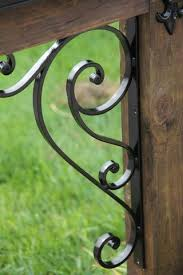 Scrolled Iron Mailbox Accessory Kit For Wood Mailbox Post Madison Iron And Wood