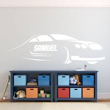 Race Car Wall Decor Kids Personalized Motor Sports Vinyl Wall Decal Sticker For Boy S Bedroom Playroom Or Gameroom Customvinyldecor Com