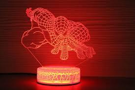 Spiderman 3d Night Lamp Spiderman Suit Children Light Home Etsy