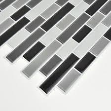 wall pops black smoked glass l stick
