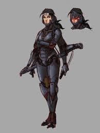 Cyber ninja w/ 6 arms | Concept art characters female, Cyber ninja ...