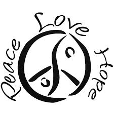 Peace Love Hope Vinyl Decal Sticker