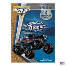 Monster Jam Grave Digger Value Pack Decalcomania