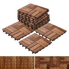 decking tiles made of acacia wood