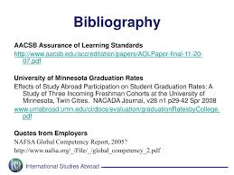 ppt proving the benefits of study abroad research on assurance