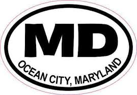 3in X 2in Oval Md Ocean City Maryland Sticker Luggage Decal Car Stickers Stickertalk