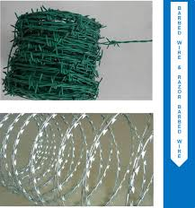 Barbed Wire Razor Wire Concertina Security Fencing Products