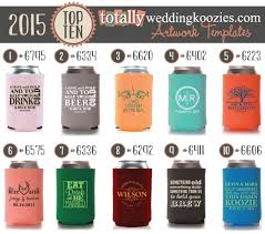 wedding koozies as the wedding favors