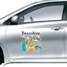 Amazon Com Barcelona Spanish Sagrada Familia Car Sticker On Car Styling Decal Motorcycle Stickers For Car Accessories Gift Home Kitchen
