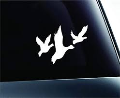 Amazon Com Three Ducks Flying Silhouette Birds Decal Family Love Car Truck Sticker Window White Kitchen Dining