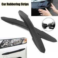 Carbon Fiber Texture Bumper Guard Sticker Rear Bumper Strip Vinyl Decal Protect