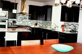 cherry cabinets beige tile pattern