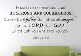 Joshua 1 9 Scripture Bible Verse Wall Decal Nuovocreations