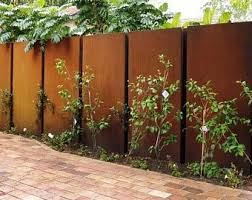 Metal Art Rust Tree Bark Feature Wall Panel Privacy Screen Etsy In 2020 Garden Gates And Fencing Metal Fence Panels Contemporary Garden