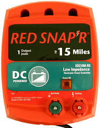 Amazon Com Red Snap R Edc15m Rs 15 Mile Battery Operated Low Impedance Fence Charger Agricultural Livestock Electric Fence Chargers Garden Outdoor