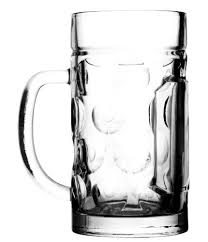 coat of arms glass beer stein