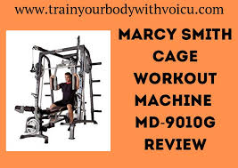 Marcy Smith Cage Workout Machine MD-9010G Review | Train Your Body With  Voicu