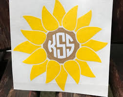15 Off Coupon On Sunflower Monogram Decal Car Decal Flower Vine Monogrammed By Musiccitymonograms Etsy Coupon Codes