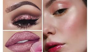 pink makeup for day 9 of navratri