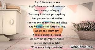 humorous birthday poem
