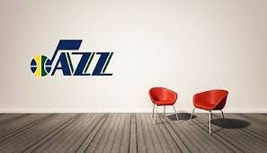 Utah Jazz Nba Wall Decal Home Decor Vinyl Sticker Ebay